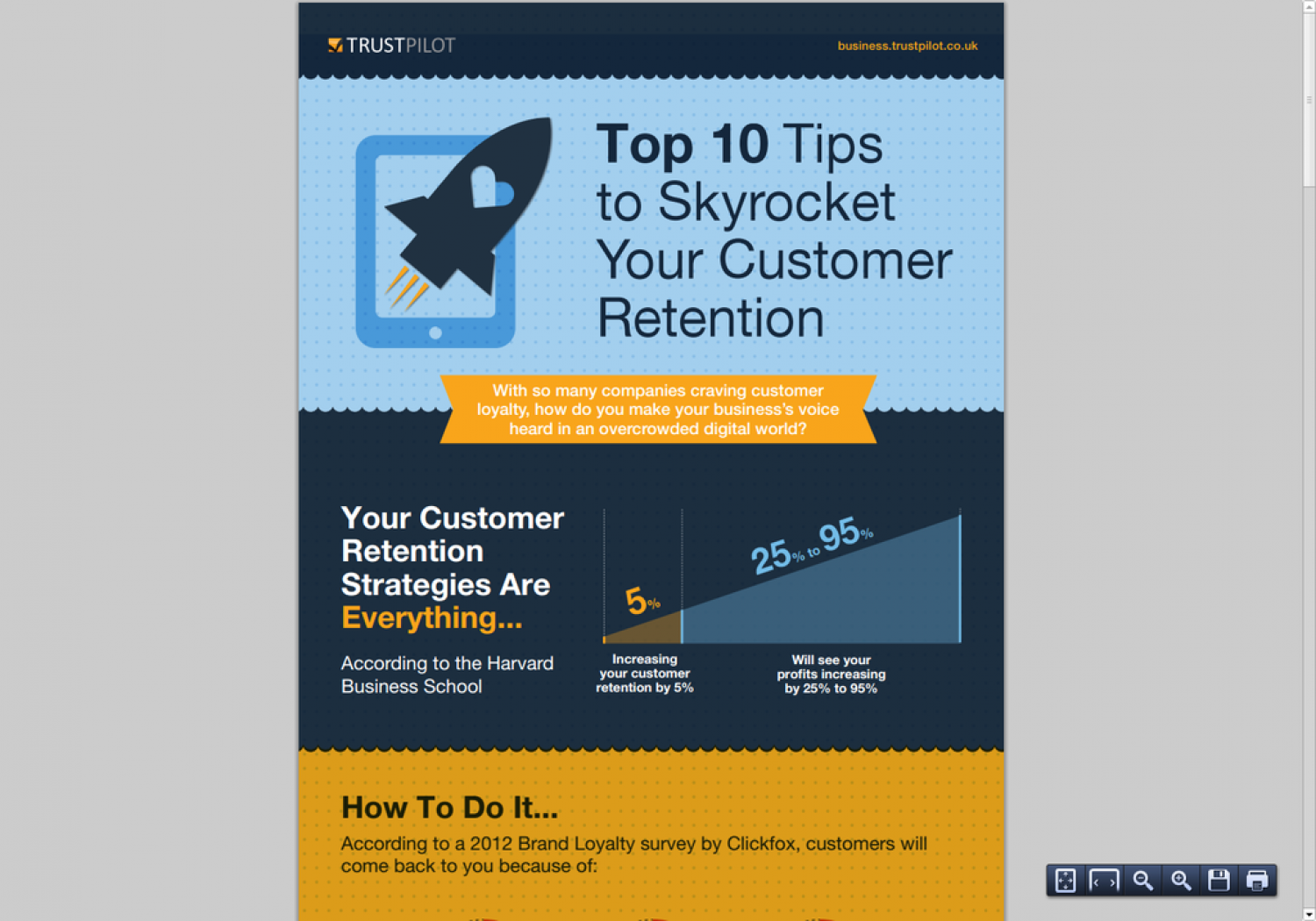 Top 10 Tips to Skyrocket Your Customer Retention Infographic