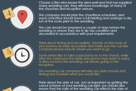 Top 10 Wedding Car Hire Tips Infographic