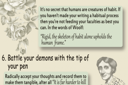 Top 10 Writing Tips from the Desk of Virginia Woolf Infographic