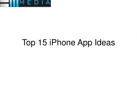 Top 15 iPhone App Ideas Infographic