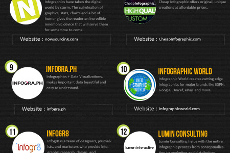 Top 17 Infographic Design Companies 2013 Infographic