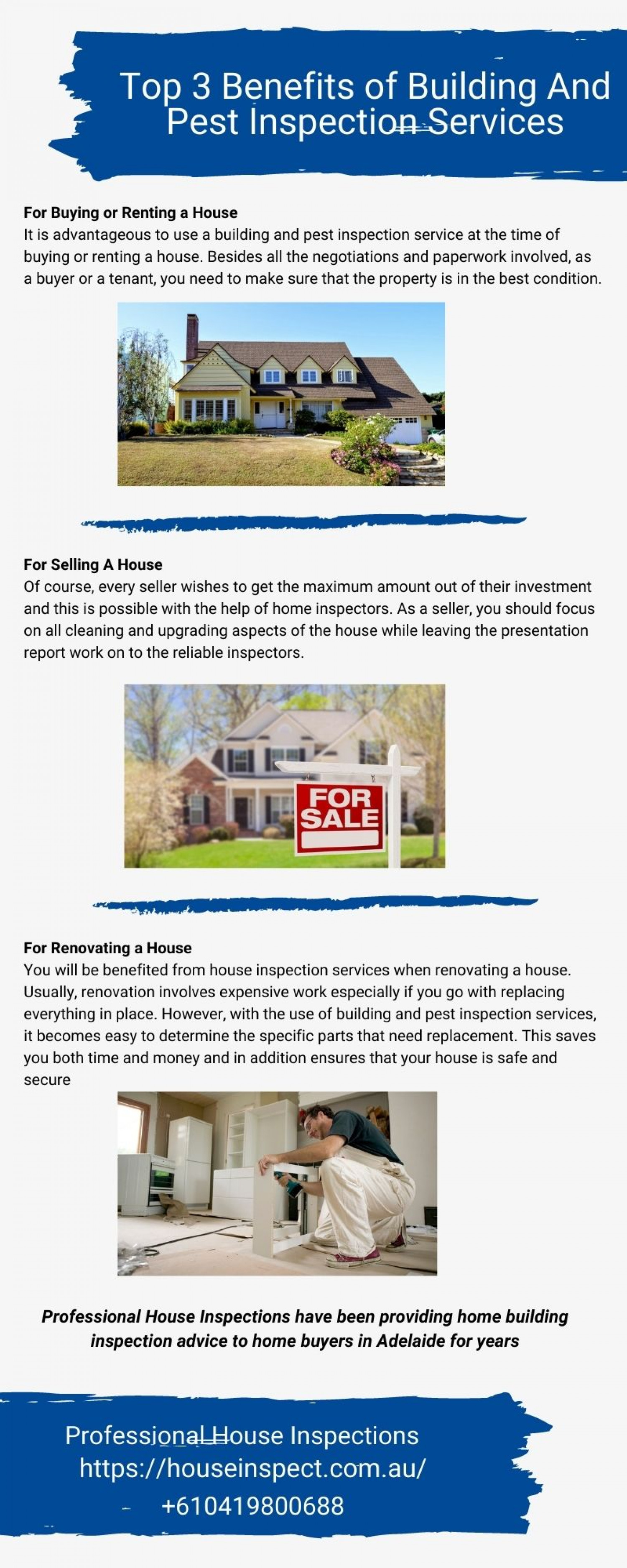 Top 3 Benefits of Building & Pest Inspection Services Infographic