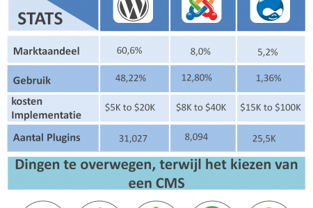 Top 3 CMS - Content Management System Infographic