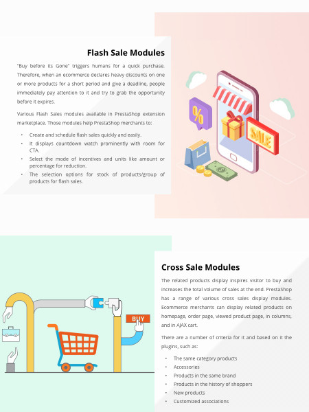 Top 4 PrestaShop Modules to Help Your Ecommerce Store Mark More Sales Infographic