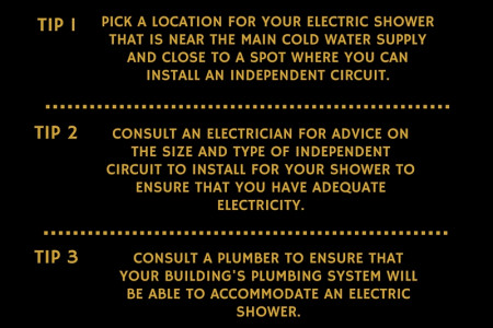 Top 4 tips: How to fit an electric shower Infographic