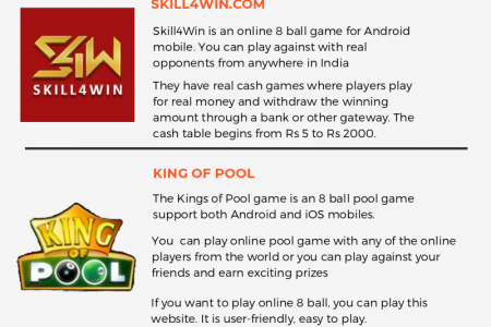 Top 5 8 ball gaming website where you can earn real money Infographic