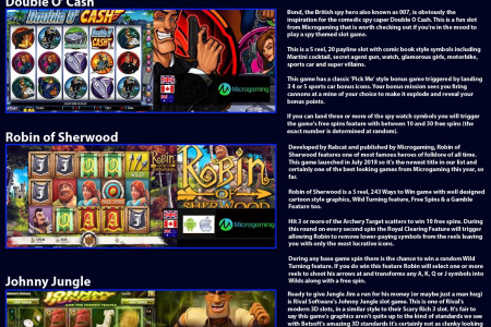Top 5 Action Hero Slot Games Infographic