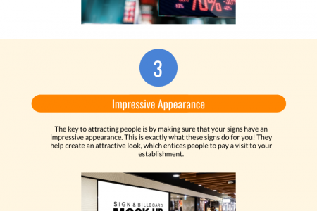 Top 5 Benefits of Using LED Signs for Business Promotion Infographic