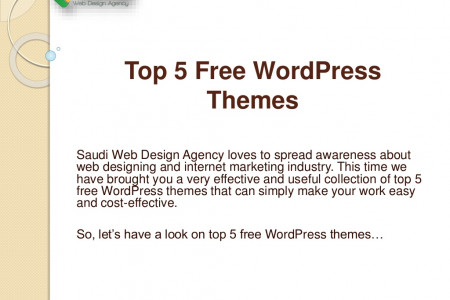 Top 5 Free WordPress Themes Infographic