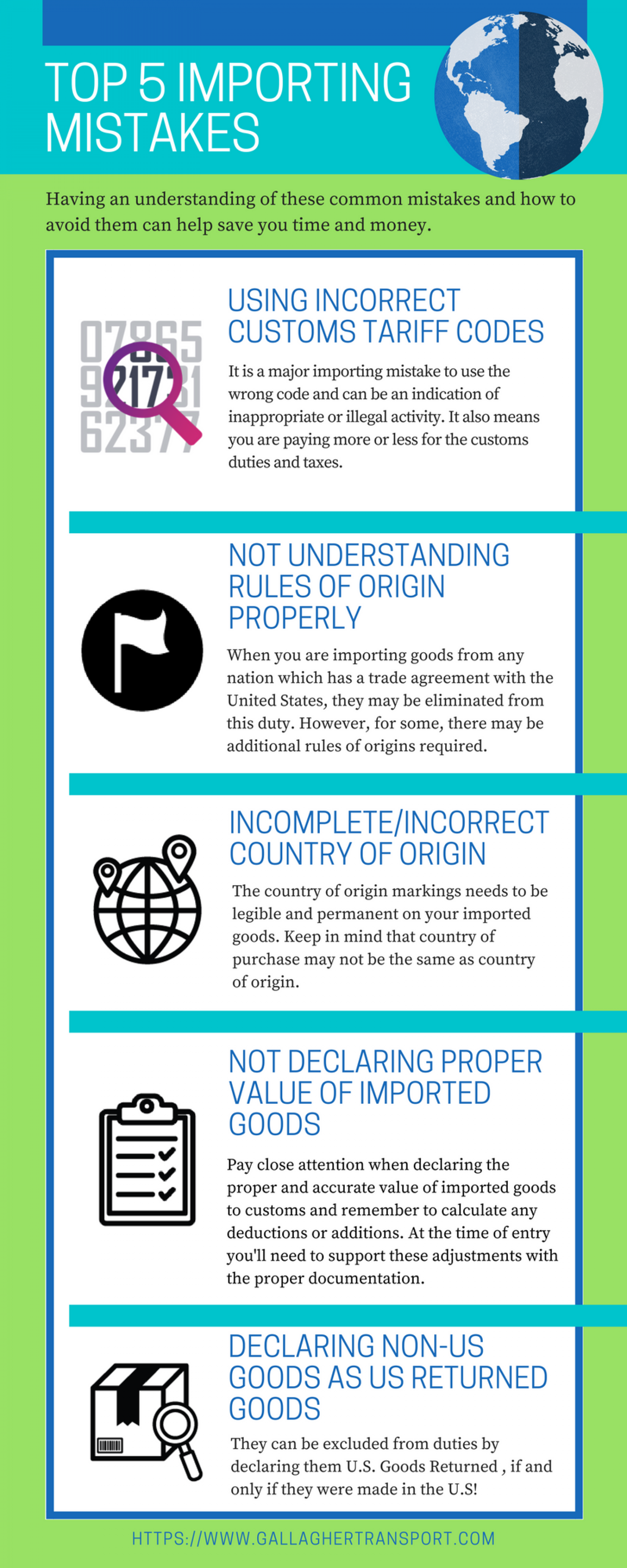 Top 5 Importing Mistakes Infographic