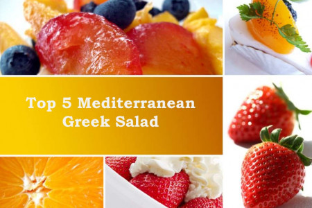Top 5 Mediterranean Greek Salad  Infographic