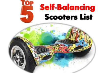 Top 5 Self Balancing / Two Wheels Scooters & Reviews Infographic
