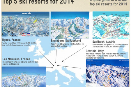 Top 5 ski resort 2014 Infographic