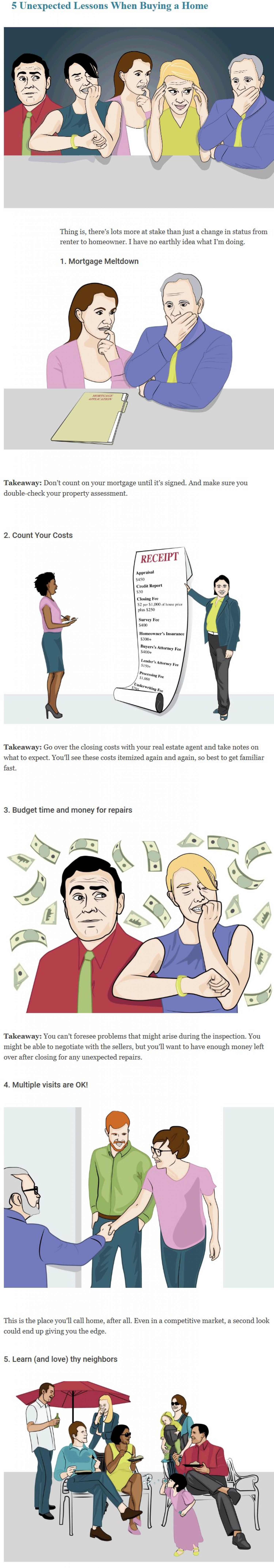 Top 5 Unexpected Lessons When Buying a Home Infographic
