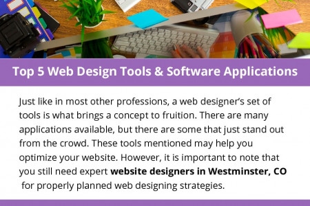 Top 5 Web Design Tools & Software Applications Infographic
