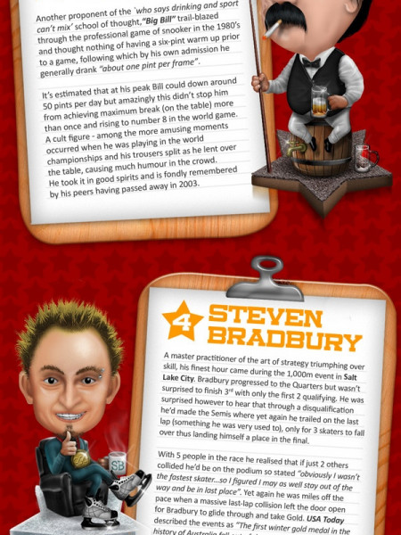 Top 6 Most Unlikely Sporting Heroes Infographic