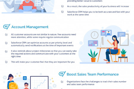 Top 6 Reasons to Improve Your Business With Salesforce CRM Infographic