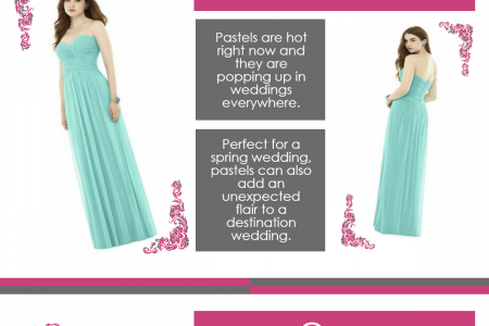 Top 7 Trending Colors For  Bridesmaid Dresses Infographic