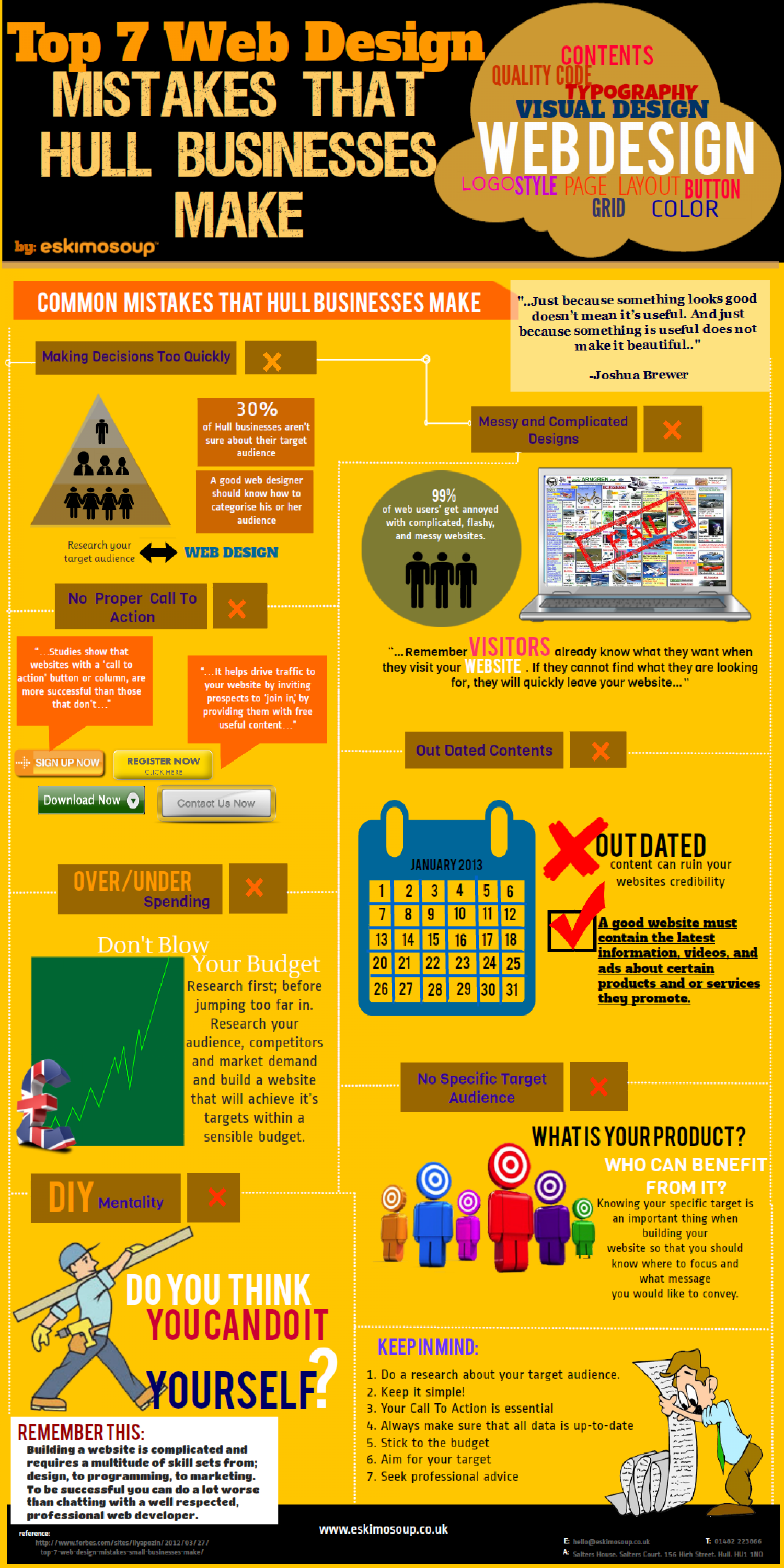 Top 7 Web Design Mistakes That Hull Businesses Make Infographic
