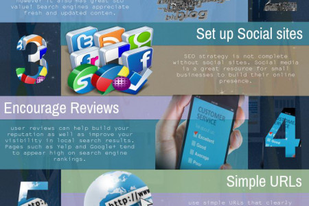 Top 8 Solid SEO Strategy Tips For Small Business Infographic
