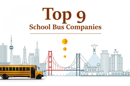 Top 9 School Bus Companies You Need to Know [Infographic] Infographic