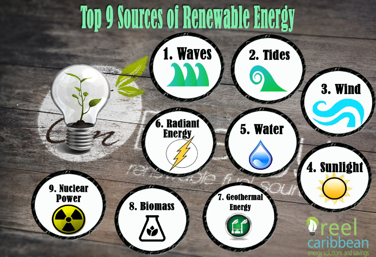 Top 9 Sources of Renewable Energy Infographic