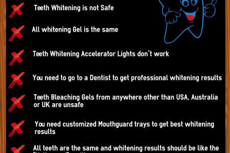 Top 9 Teeth Whitening Myths Infographic