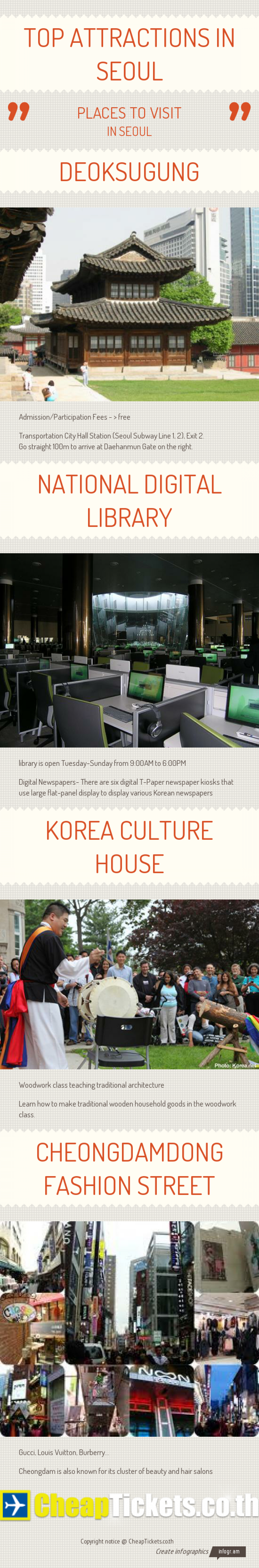 Top attractions in Seoul Infographic