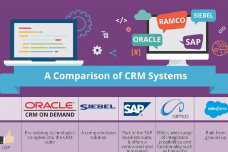 Top CRM Systems Compared  Infographic
