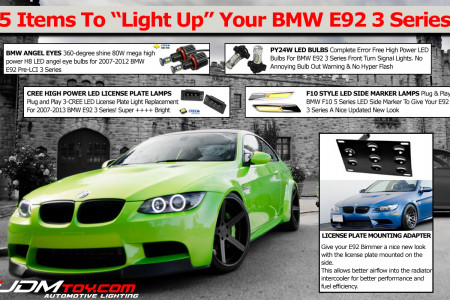 Top Items For BMW E92 3 Series Coupe Infographic