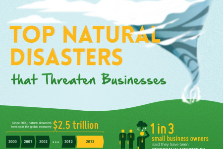 Top Natural Disasters that Threaten Businesses Infographic
