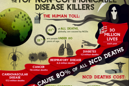 Top Non-Communicable Disease Killers, Infographic Infographic