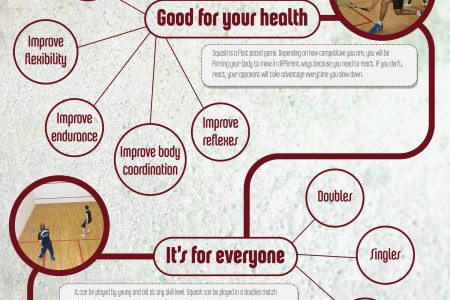 Top reasons to play squash Infographic