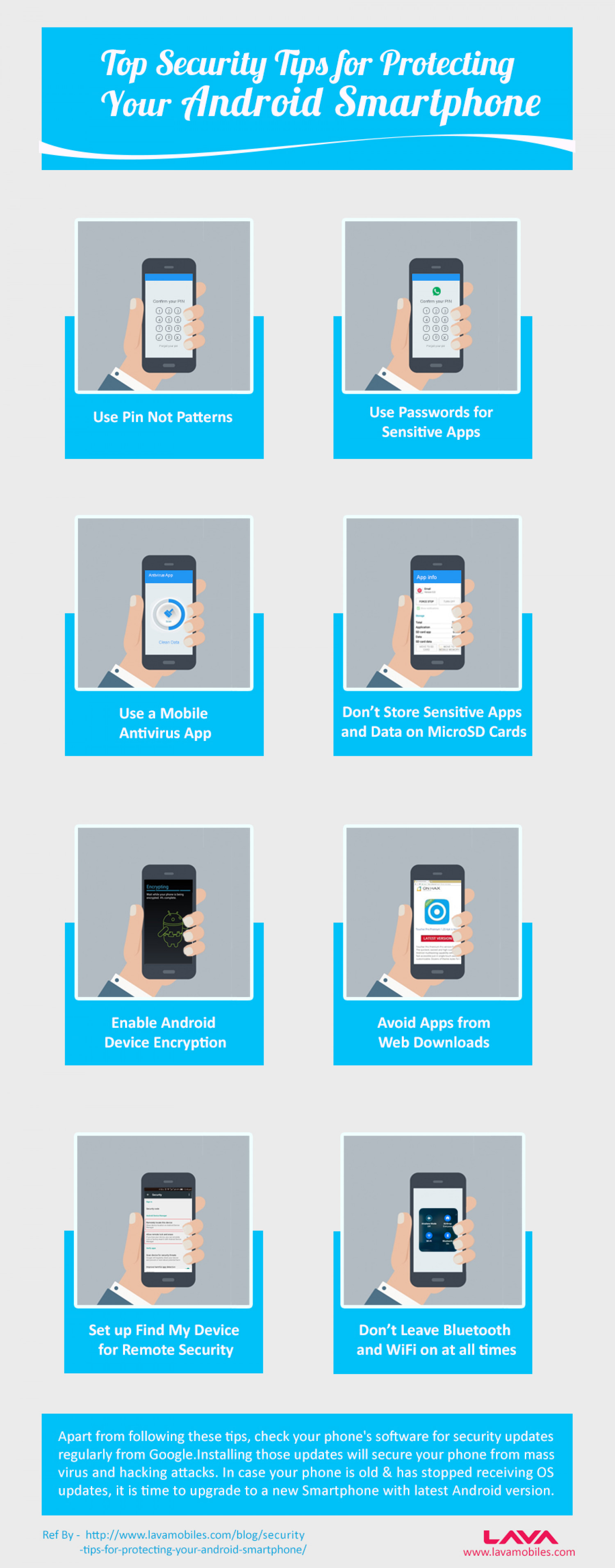 Top Security Tips for Protecting Your Android Smartphone Infographic
