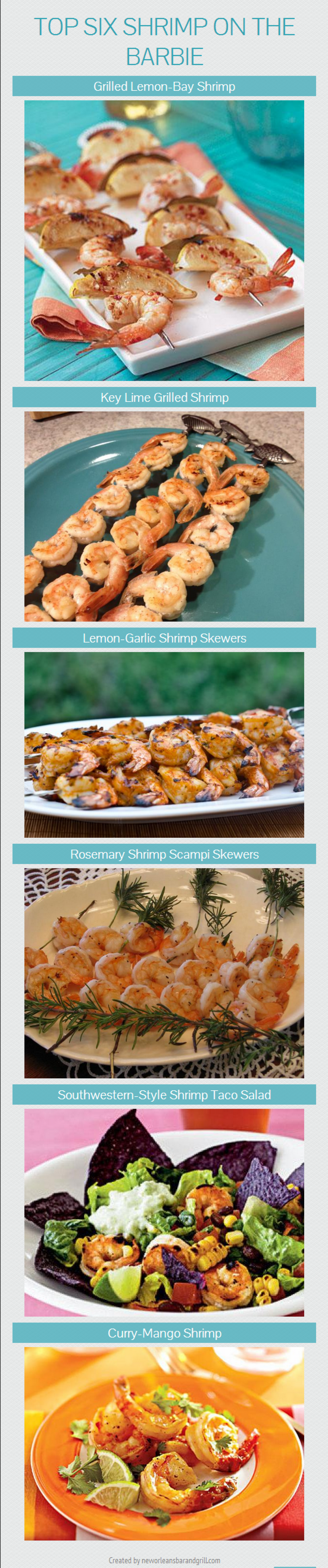 Top Six Shrimp on the Barbie Infographic