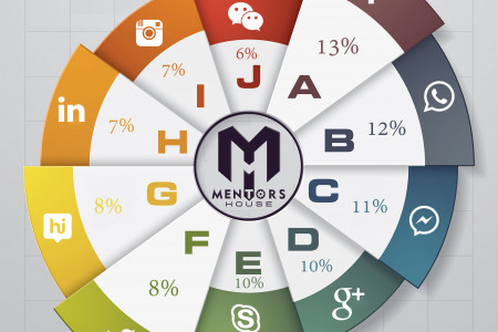 Top Social Media Sites in India on The Basis of Percentage Usage Infographic