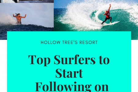 Top Surfers to Start Following on Instagram Infographic