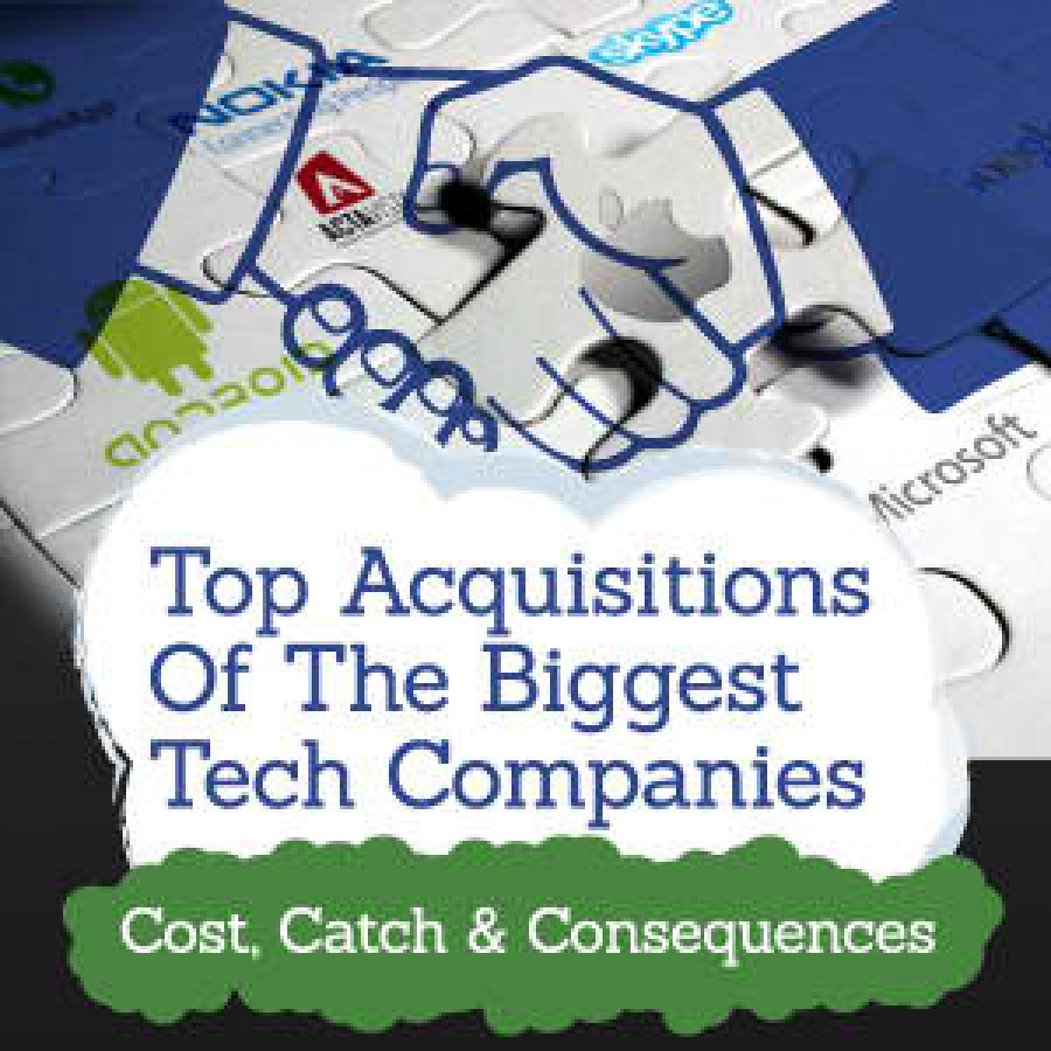The Acquisitions of the Biggest Tech Companies Infographic