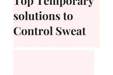 Top Temporary solution to Control Sweat Infographic