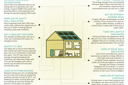 Top Ten Energy Saving Tips Infographic