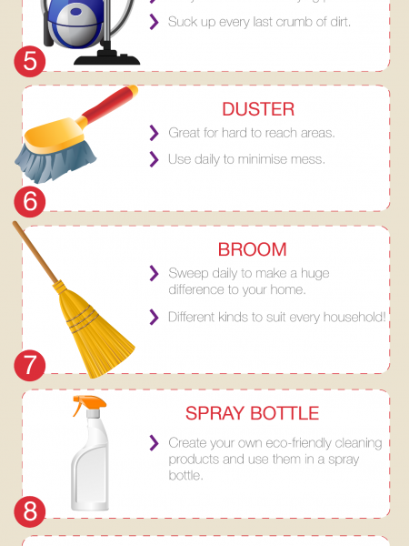Top Ten household cleaning products Infographic