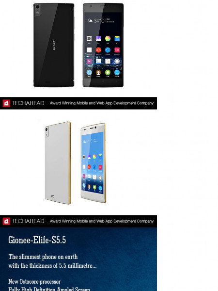 Top Ten Slimmest Smartphone on Earth Infographic