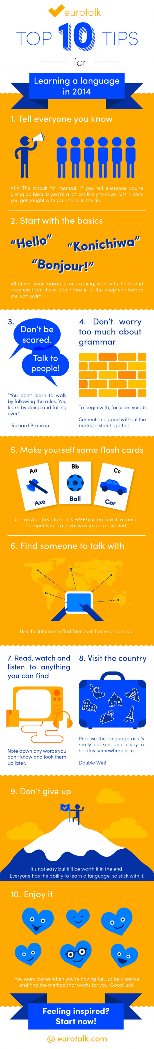 Top Ten Tips for Learning a Language in 2014