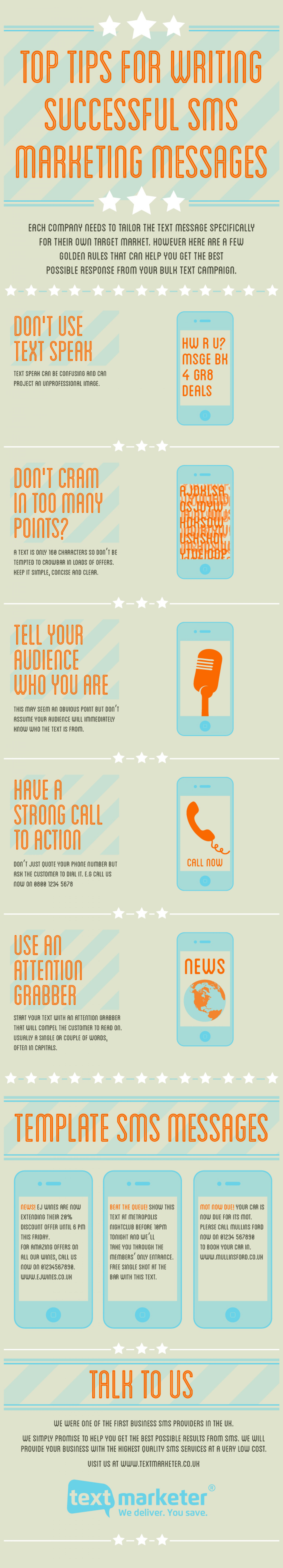 Top tips for writing successful SMS marketing messages Infographic