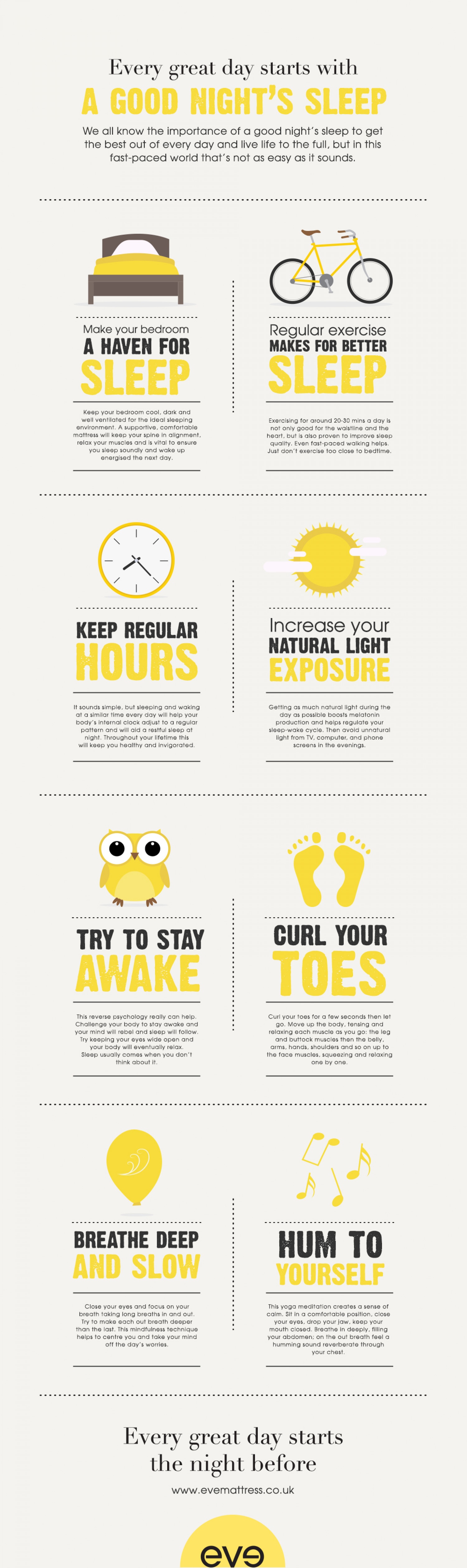 top tips on how to get a good nights sleep ly top tips on how to get a good nights sleep infographic