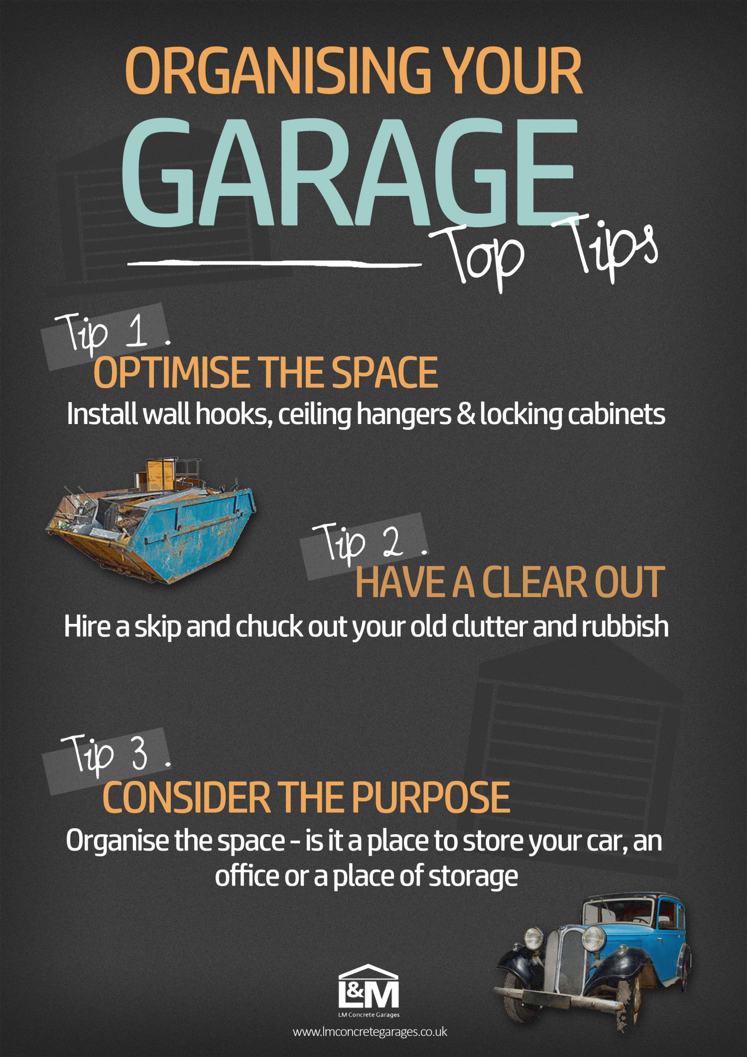Top Tips on How to Organise your Garage Infographic