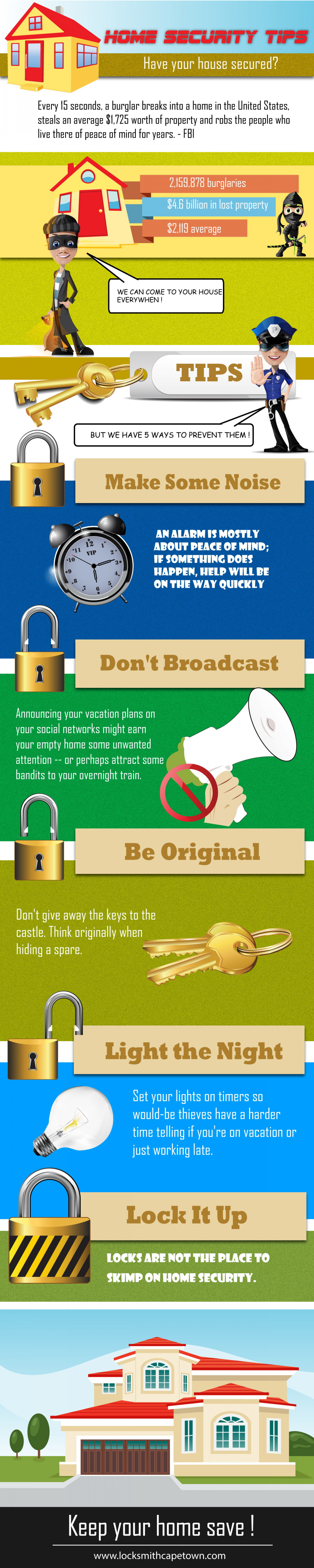 Top tips on How to prevent Break Ins and Theives from Entering your Cape Town Property Infographic