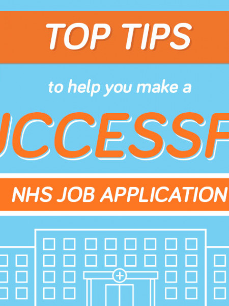 Top tips to help you make a successful NHS  job application Infographic