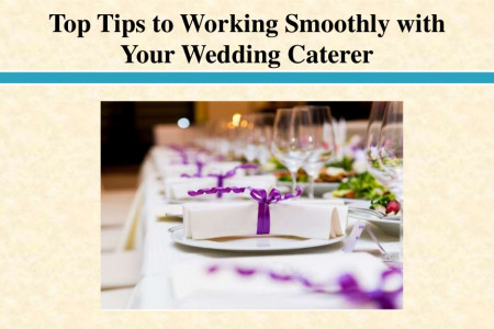 Top Tips to Working Smoothly with Your Wedding Caterer Infographic