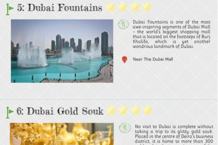 Top Tourist Attraction In Dubai Infographic